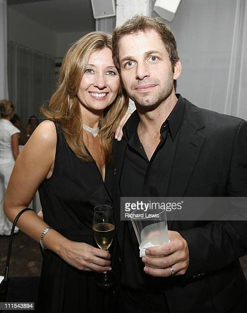 Zack Snyder director and wife Deborah Snyder during The 57th Annual Berlinale International Film Festival '300' Party Inside in Berlin Germany