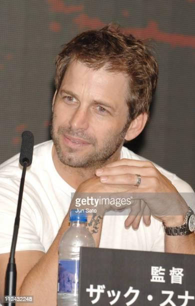 "Zack Snyder during ""300"" Tokyo Press Conference at Mandarin Oriental Tokyo in Tokyo, Japan."