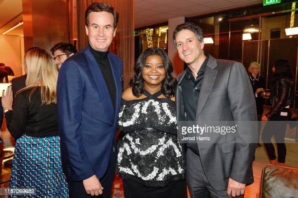 Zack Van Amburg Octavia Spencer and Jamie Erlicht attend the after party of Apple TV's 'Truth Be Told' on November 11 2019 in Beverly Hills California
