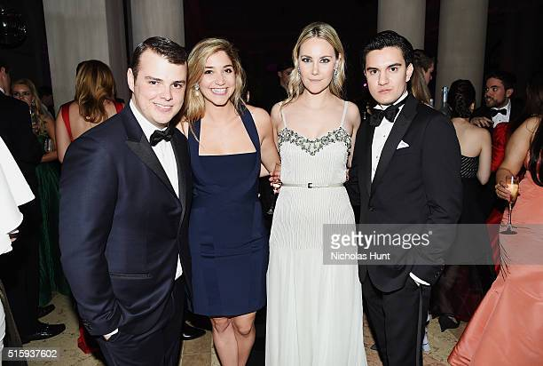 Zack Weiss Elizabeth Quinn Brown Elizabeth Kurpis and Kevin Michael Barba attend The Frick Collection Young Fellows Ball 2016 at The Frick Collection...