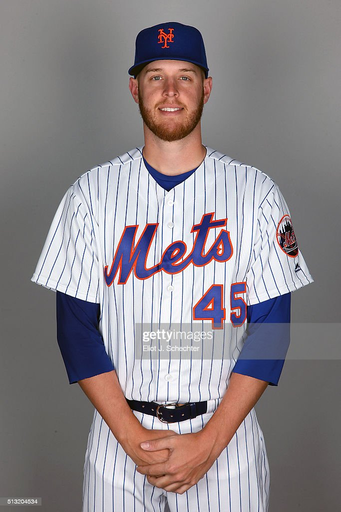Zack Wheeler #45 of the New York Mets poses during Photo Day on Tuesday March 1, 2016 at Tradition Field in Port St. Lucie, Florida.