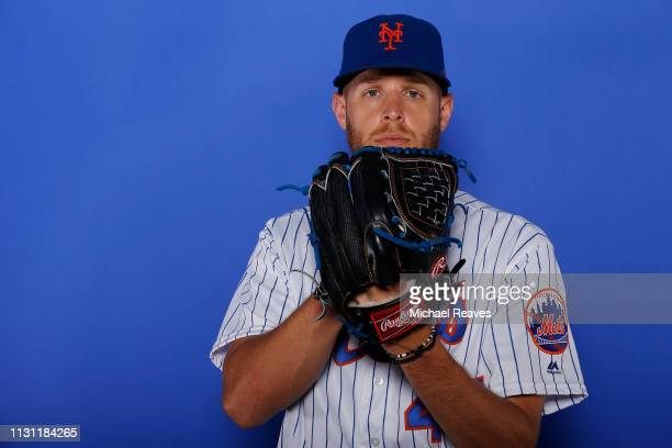 Zack Wheeler of the New York Mets poses for a photo on Photo Day at First Data Field on February 21 2019 in Port St Lucie Florida