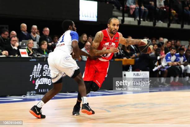 Zack Wright of Bourg en Bresse during the Jeep Elite match between Boulazac Basket Dordogne v JL Bourg en Bresse on November 17 2018 in Boulazac...
