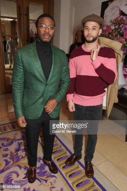 Zackary Momah and Calvin Demba attend the GQ Car Awards 2018 in association with Michelin at Corinthia London on February 5 2018 in London England