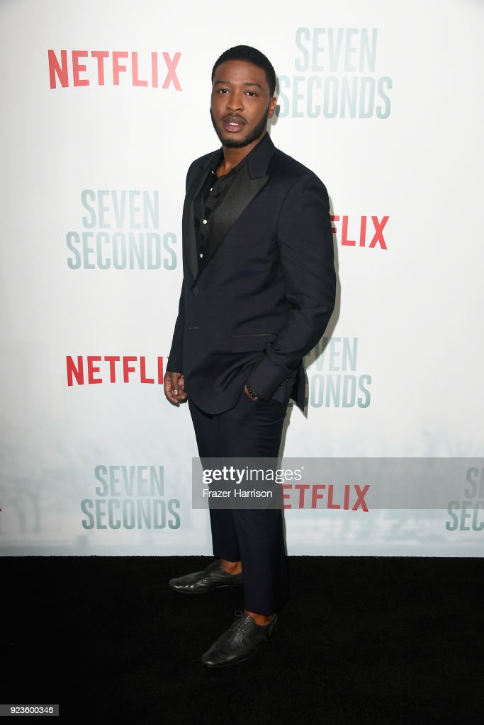 Zackary Momoh attends the premiere of Netflix's 'Seven Seconds' at The Paley Center for Media on February 23, 2018 in Beverly Hills, California.