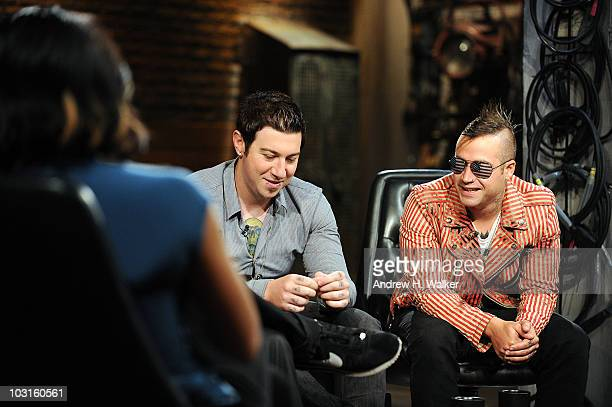Zacky Vengeance and Johnny Christ of the band Avenged Sevenfold visit fuse Studios on July 29 2010 in New York City