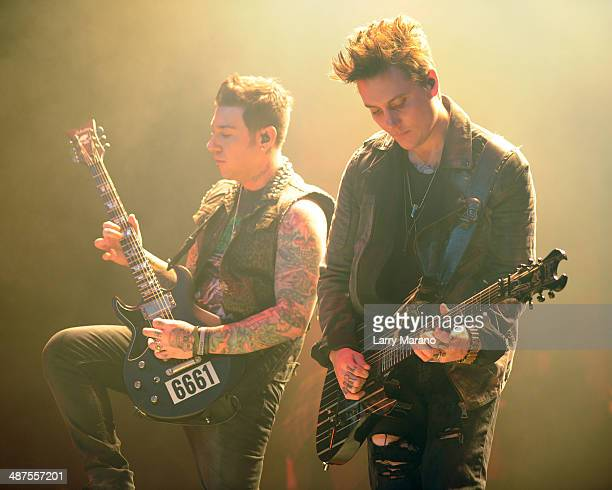 Zacky Vengeance and Synyster Gates of Avenged Sevenfold perform at Hard Rock Live in the Seminole Hard Rock Hotel Casino on April 30 2014 in...