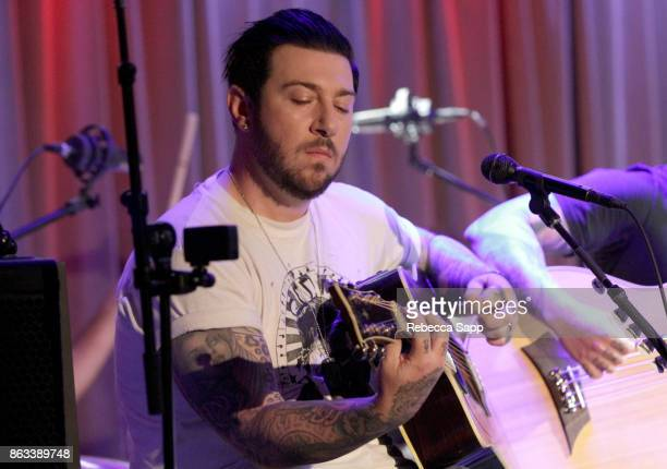 Zacky Vengeance of Avenged Sevenfold performs at An Evening With Avenged Sevenfold at The GRAMMY Museum on October 19 2017 in Los Angeles California