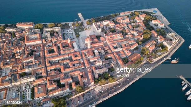 zadar old town - old town stock pictures, royalty-free photos & images