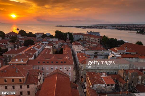 Zadar: Panorama view from Cathedral Bell Tower  , Croatia