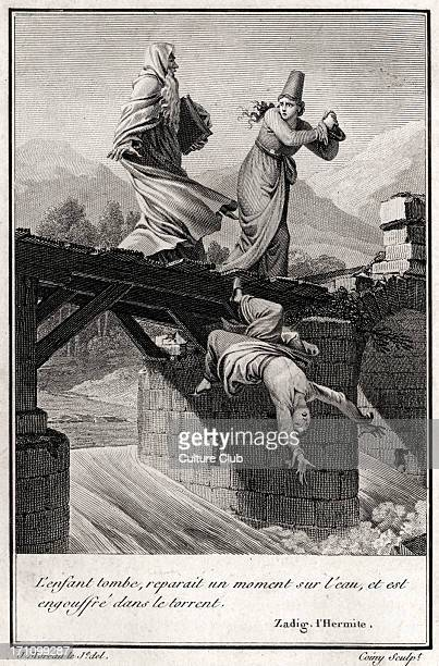 Zadig by VOLTAIRE FrancoisMarie Arouet French philosopher playwright and novelist Engraved illustration to his novel ' Zadig ' Caption ' L'enfant...