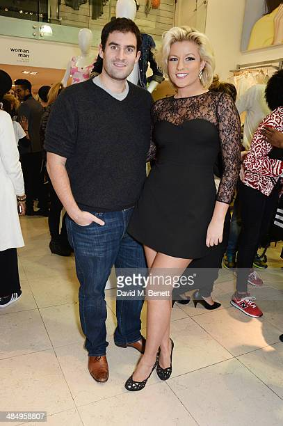 Zafar Rushdie and Natalie Coyle attend the French Connection #CantHelpMySelfie launch party at French Connection Regent Street store on April 15 2014...