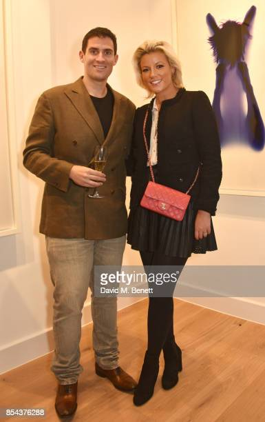 Zafar Rushdie and Natalie Rushdie attend as Rob and Nick Carter present their inaugural exhibition 'Yoga Photograms' at their new artist space RN at...