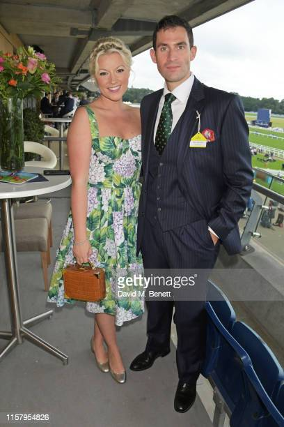 Zafar Rushdie and Natalie Rushdie attend the King George Weekend at Ascot Racecourse on July 27 2019 in Ascot England