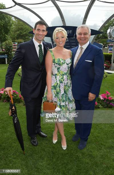 Zafar Rushdie Natalie Rushdie and Eamonn Holmes attend the King George Weekend at Ascot Racecourse on July 27 2019 in Ascot England