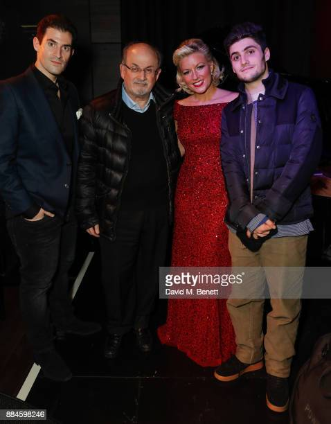 Zafar Rushdie Salman Rushdie Natalie Rushdie and Milan Rushdie attend Natalie Rushdie's Christmas Concert at The Other Palace on December 2 2017 in...