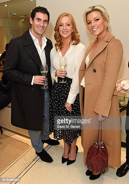 Zafar Rushdie SarahJane Mee and Natalie Coyle attend the launch of the unique collaboration between designers John Monique Davidson and artist Tanya...