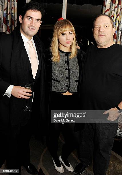 Zafar Rushdie Suki Waterhouse and Harvey Weinstein attend a screening of 'Silver Linings Playbook' hosted by Harvey Weinstein CoChairman of The...