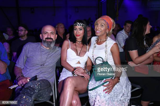 Zafer Demirkol, Gonul Pehlivan and Julia Prillwitz attend the 3D Fashion Presented By Lexus/Voxelworld show during Platform Fashion July 2017 at...
