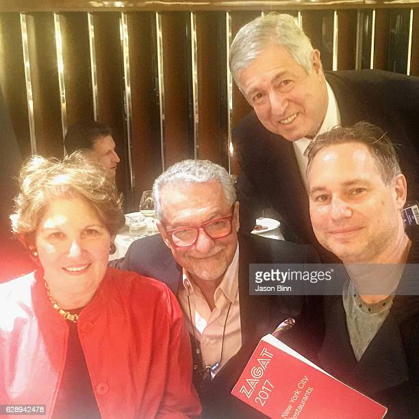 Zagat Restaurant Surveys Founder Nina Zagat Interior Designer Adam D Tihany Zagat Restaurant Surveys Founder Tim Zagat Jason Binn circa October 2016...
