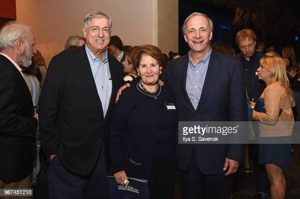 Zagat Restaurant Surveys founders Tim Zagat and Nina Zagat and OceanX Founder Ray Dalio attend the Launch Of OceanX a bold new initiative for ocean...