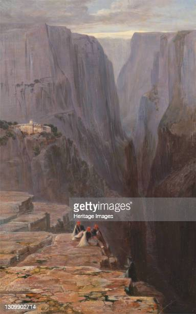 Zagori, Greece, 1860. Artist Edward Lear. .