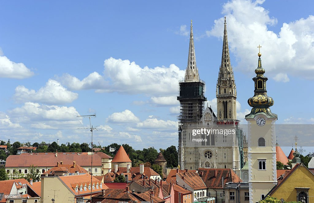 Zagreb cathedral : Stock Photo