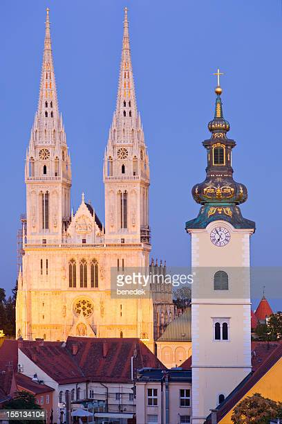 zagreb, croatia - cathedral stock pictures, royalty-free photos & images