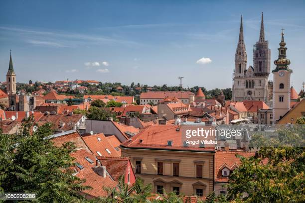 zagreb, old town - zagreb stock pictures, royalty-free photos & images