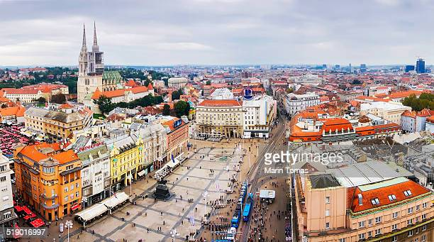 zagreb panorama - zagreb stock pictures, royalty-free photos & images
