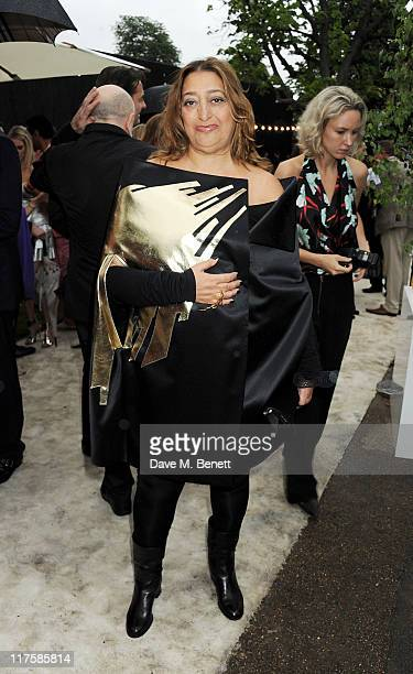 Zaha Hadid attends the Burberry Serpentine Summer Party at The Serpentine Gallery on June 28 2011 in London England