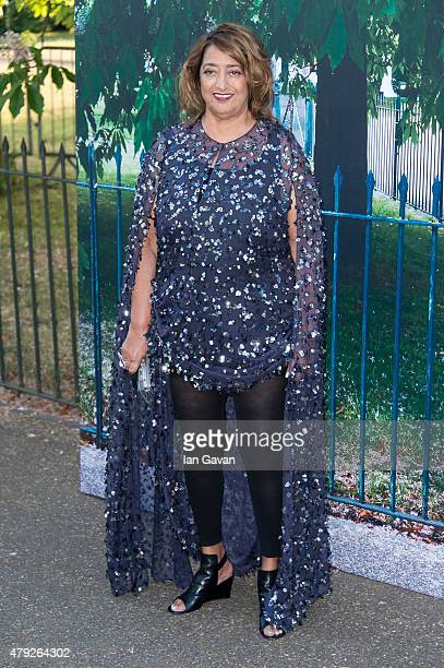 Zaha Hadid attends the Serpentine Gallery Summer Party at The Serpentine Gallery on July 2 2015 in London England