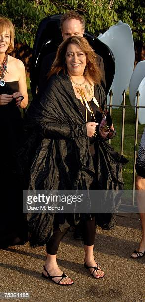 Zaha Hadid attends the Serpentine Summer Party at The Serpentine Gallery on July 11 2007 in London England