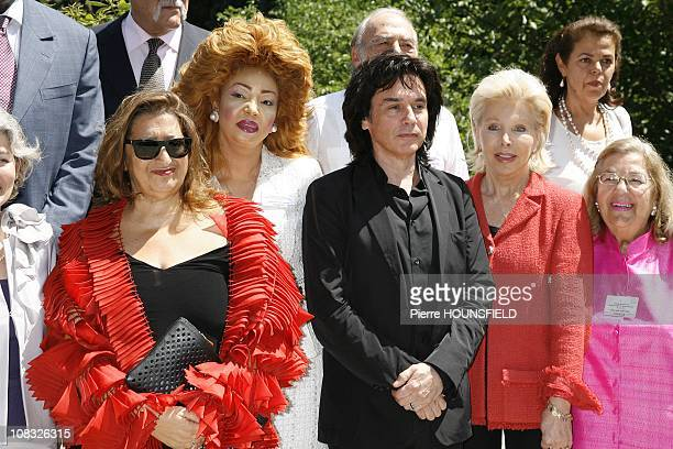Zaha Hadid Chantal Biya Jean Michel Jarre Ute Henriette Ohoven Esther Coopersmith in Paris France on June 24th 2010
