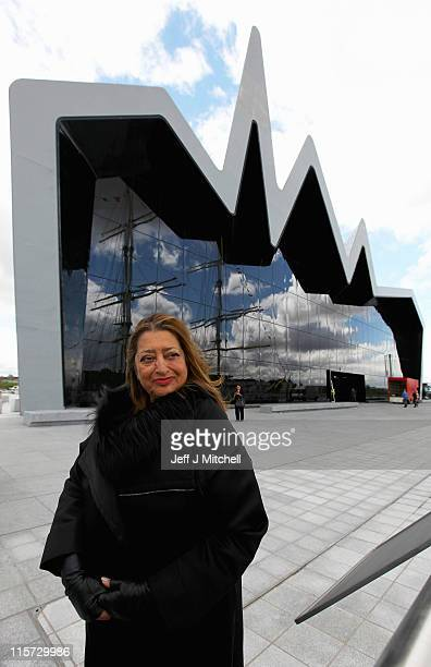 Zaha Hadid the architect of the new Riverside Museum attends a press conference before the opening of the musuem her first major work in the United...