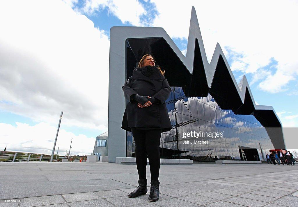 Architect Zaha Hadid Visits Glasgow's Riverside Museum : News Photo