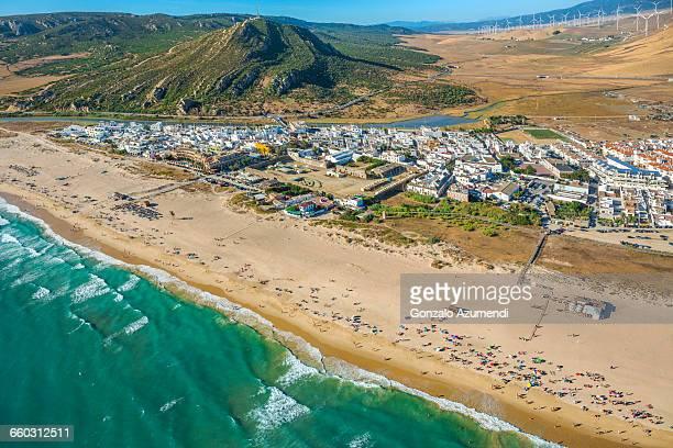 zahara beach. - cádiz fotografías e imágenes de stock