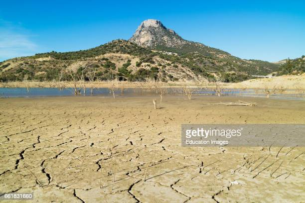 Zahara el Gastor reservoir Cadiz Province Andalusia southern Spain El Algarin mountain in the background This picture was taken on when the...