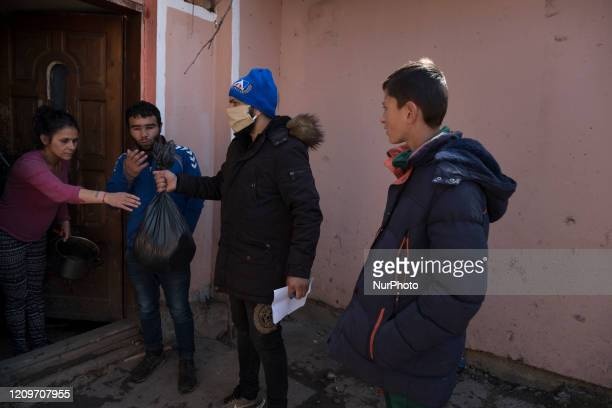 Zahari Alexandrov and a team of young volunteers distributed bags of food in the Fakulteta neighborhood of Sofia on behalf of the Norwegian...