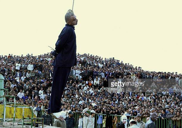 Iranian Nosrallah ShanbehZehi is hanged in public in the Iranian border city of Zahedan 19 February 2007 Iran today hanged in public ShanbehZehi who...