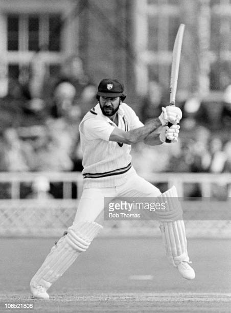Zaheer Abbas batting for Gloucestershire during the John Player League cricket match between Gloucestershire and Middlesex held at the County Cricket...