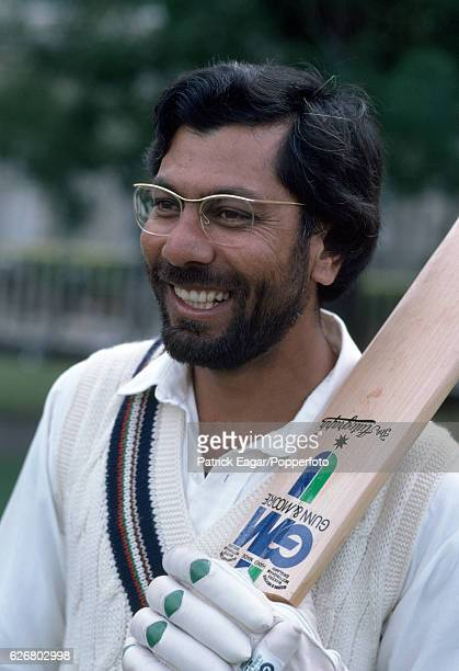 Zaheer Abbas of Gloucestershire during a county match between Gloucestershire and Surrey at Cheltenham circa August 1981
