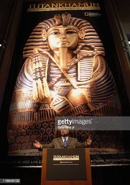 Zahi Hawass, Secretary General of Egypt's Supreme Council of Antiquities and Director of the Giza Saqqara Pyramids and Terry Garcia , exec....