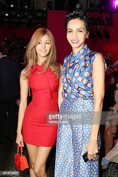 Zahia Dehar and Farida Khelfa attend the Schiaparelli show as part of Paris Fashion Week Haute Couture Fall/Winter 20142015 on July 7 2014 in Paris...