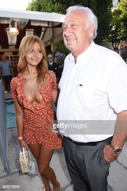 Zahia Dehar and Marcel Campion attend La Fete des Tuileries on June 23 2017 in Paris France