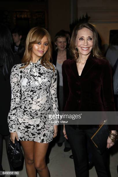 Zahia Dehar and Marisa Berenson attend Dessiner L'Or et L'Argent Odiot Orfevre Exhibition Launch at Musee Des Arts Decoratifs on March 7 2017 in...
