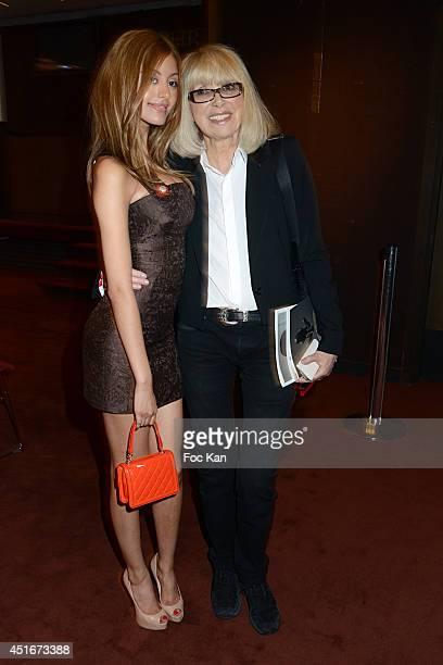 Zahia Dehar and Mireille Darc attend 'Les CÏurs des Createurs' Auction Cocktail in profit of 'La Chaine de L'Espoir' Association at Christie's on...