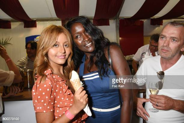 Zahia Dehar and model Diariata Niang attend La Fete des Tuileries on June 23 2017 in Paris France