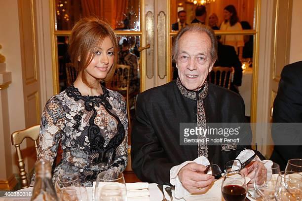 Zahia Dehar and Monseigneur le Comte de Paris attend The Children for Peace Gala at Cercle Interallie on December 12 2014 in Paris France