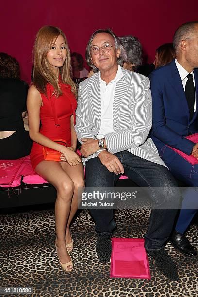 Zahia Dehar and Pierre Passebon attend the Schiaparelli show as part of Paris Fashion Week Haute Couture Fall/Winter 20142015 on July 7 2014 in Paris...